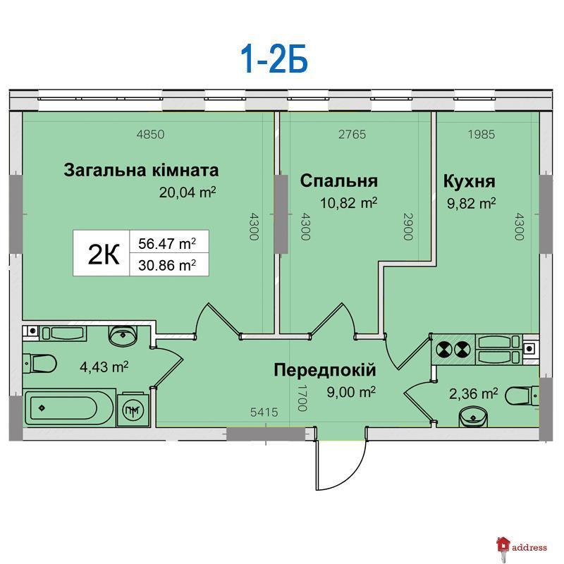 ЖК Ривьера: 2-комнатные