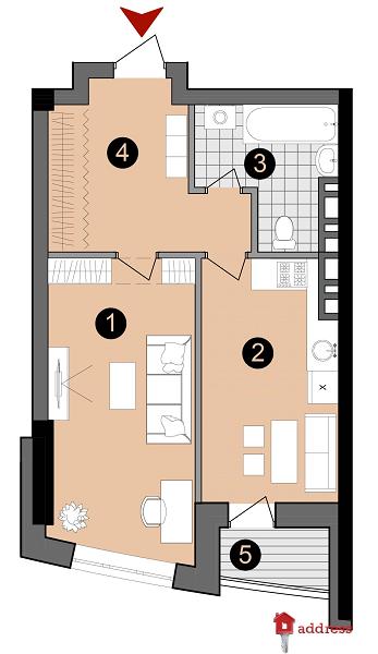 ЖК А52: 1-комнатные