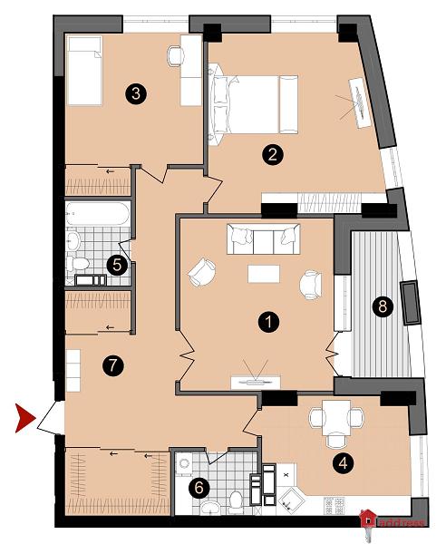 ЖК А52: 3-комнатные