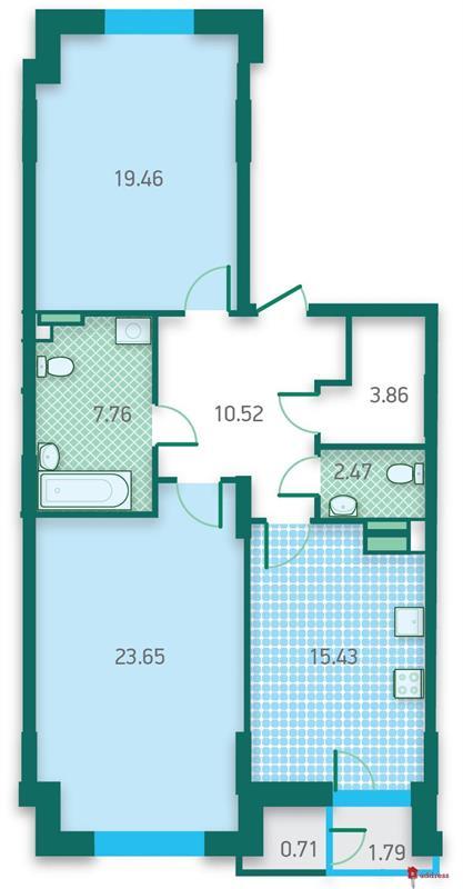 ЖК CRYSTAL HOUSE: Двухкомнатные