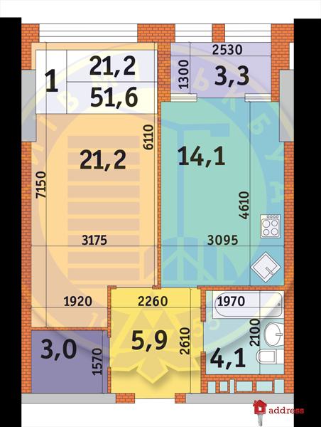 ЖК Manhattan city: Планировки 1-комнатных квартир