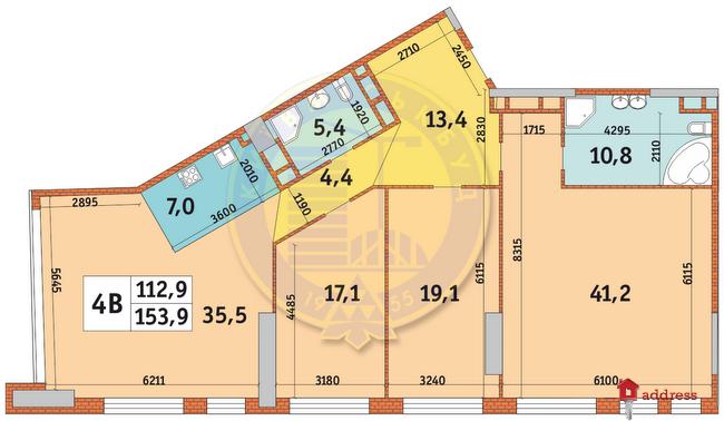 ЖК Manhattan city: Планировки 4-комнатных квартир