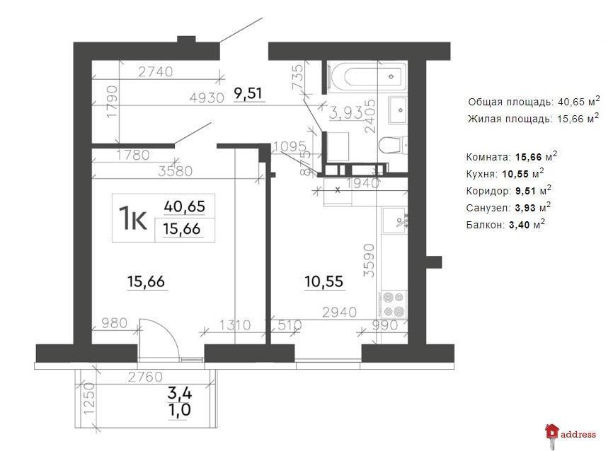 ЖК Скандия: Планирование 1-комнатных квартир