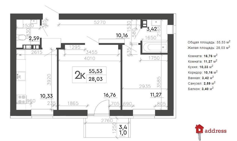 ЖК Скандия: Планирование 2-комнатных квартир