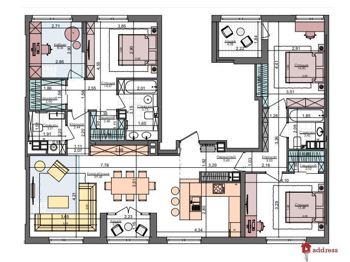 ЖК Файна таун: 4 комнатные