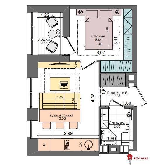 ЖК Файна таун: 1 комнатные