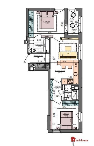 ЖК Файна таун: 2 комнатные