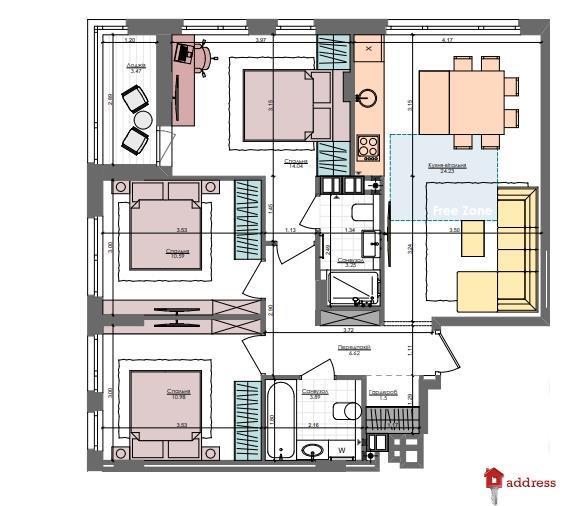 ЖК Файна таун: 3 комнатные