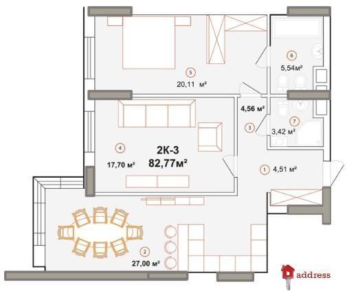ЖК Edelweiss House: 2-комнатные