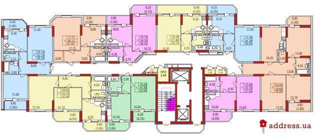 ЖК Левитана: План этажа