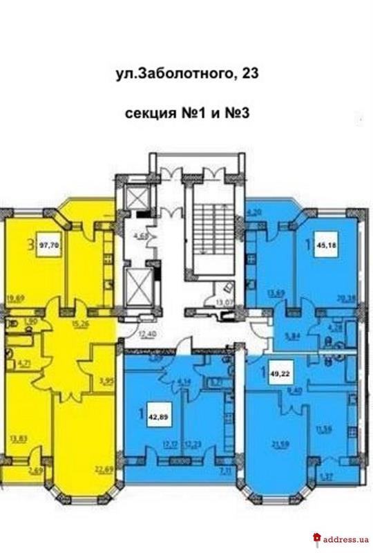 ЖК Идеал-2: Планы этажей секций