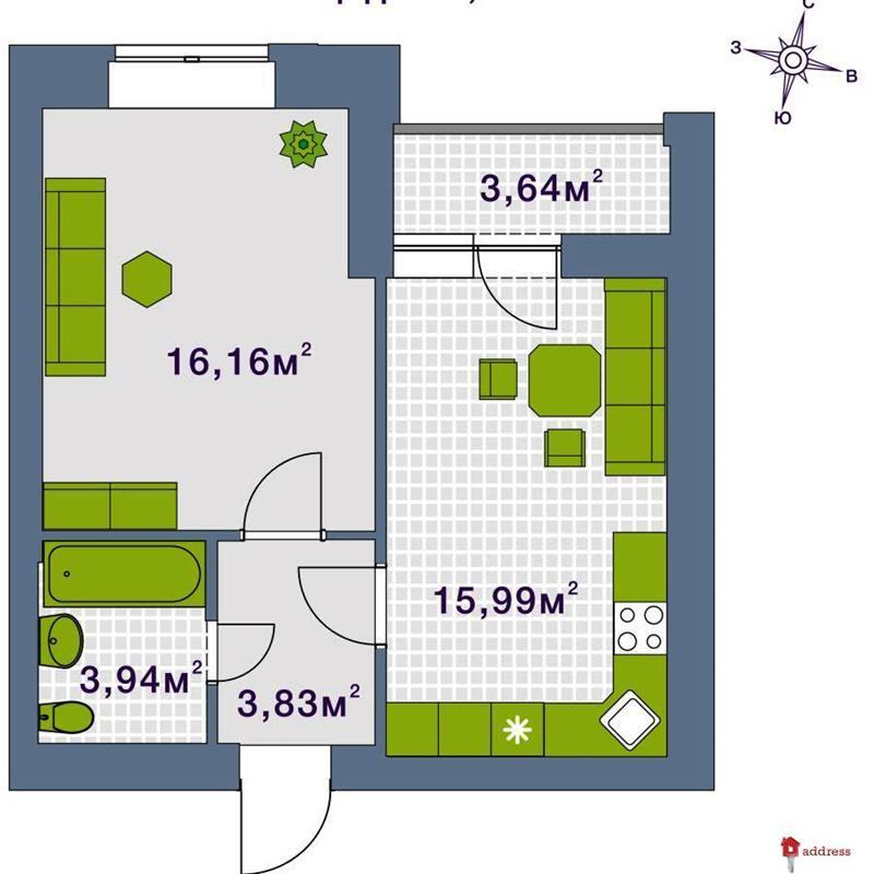 ЖК Центральный: 1 комнатные