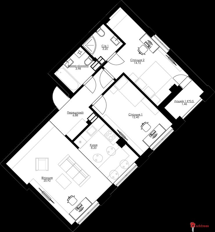 ЖК San Francisco Creative House: 3-комнатные