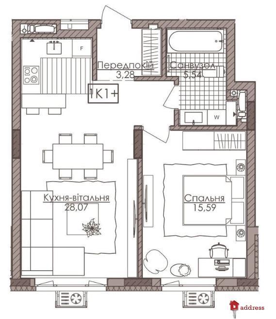 Премиум апартаменты Камертон: 1-комнатные