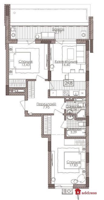 Премиум апартаменты Камертон: 2-комнатные