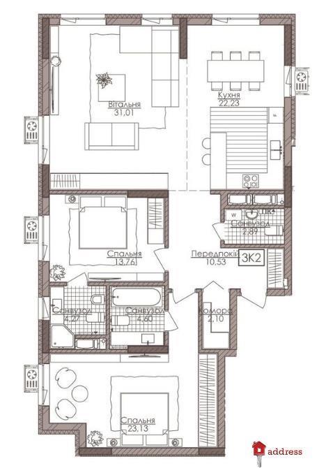 Премиум апартаменты Камертон: 3-комнатные