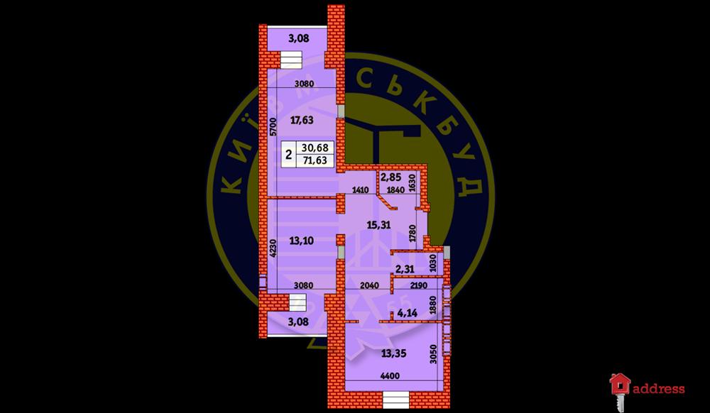 ЖК Героев Чернобыля 6-8: 2- комнатная