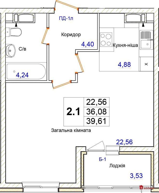 ЖК Одесский бульвар: 1-комнатные