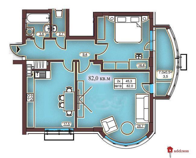 Клубный дом Эдельвейс Феофании: 2-комнатные