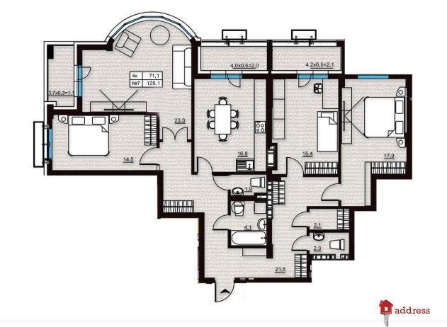 Клубный дом Эдельвейс Феофании: 4-комнатные