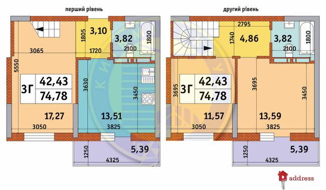 ЖК Просвещения, 14: Планировки 3-комнатных квартир