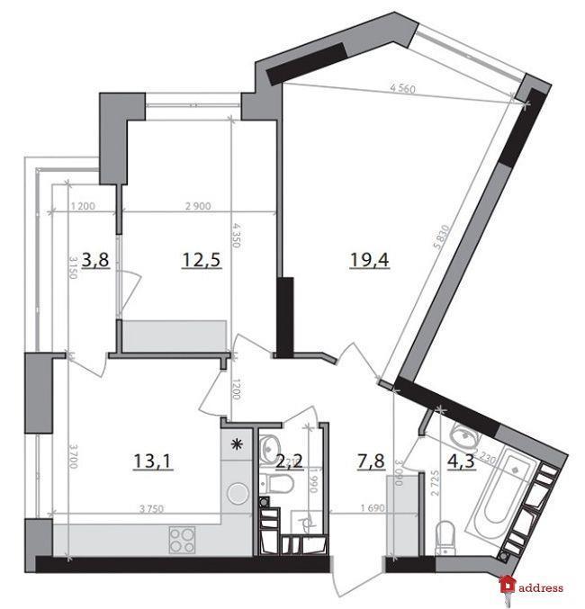 ЖК Poetica: 2-комнатные