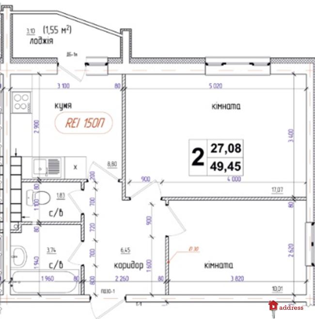 ЖК Атлант (Коцюбинское): 2-комнатные