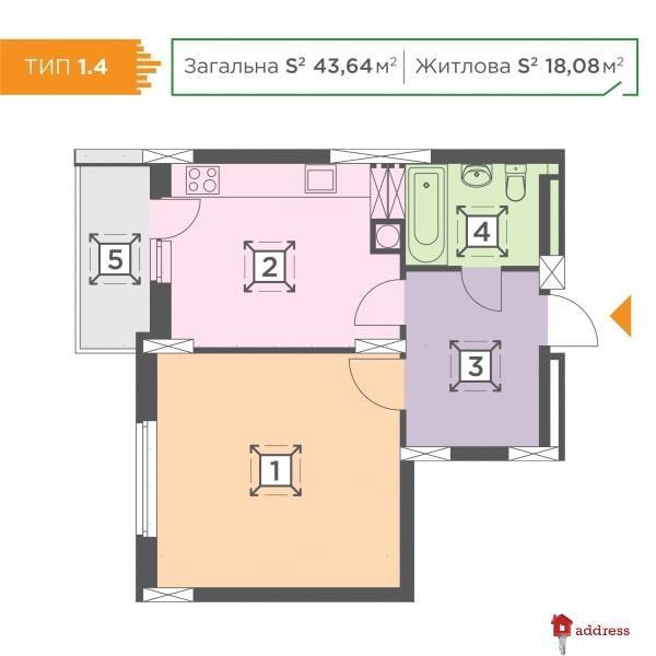 ЖК Melody Park: 1-комнатные