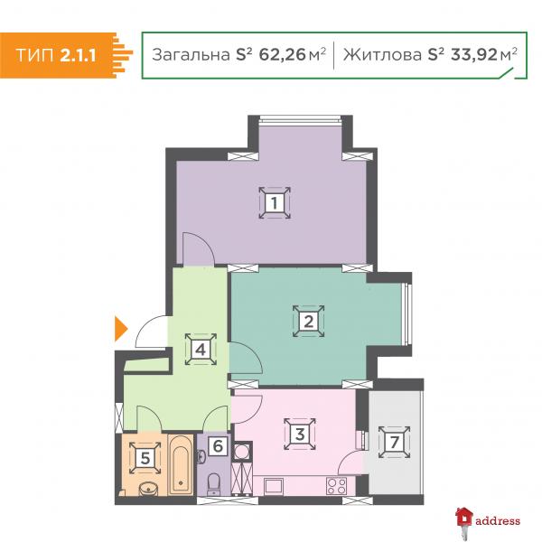 ЖК Melody Park: 2-комнатные