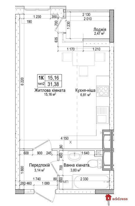 ЖК «Атлант на Киевской»: 1-комнатные