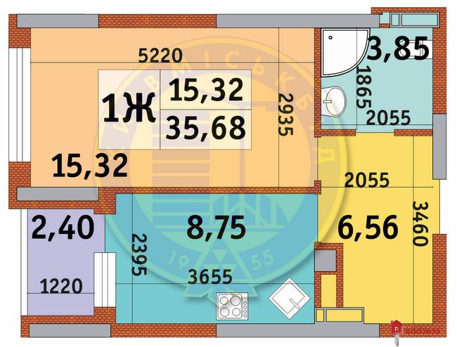 ЖК Итальянский квартал: Планировки 1-комнатных квартир