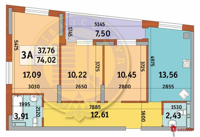 ЖК Итальянский квартал: Планировки 3-комнатных квартир