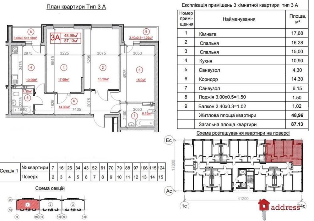 Жилой комплекс Рідне місто: 3 комнаты