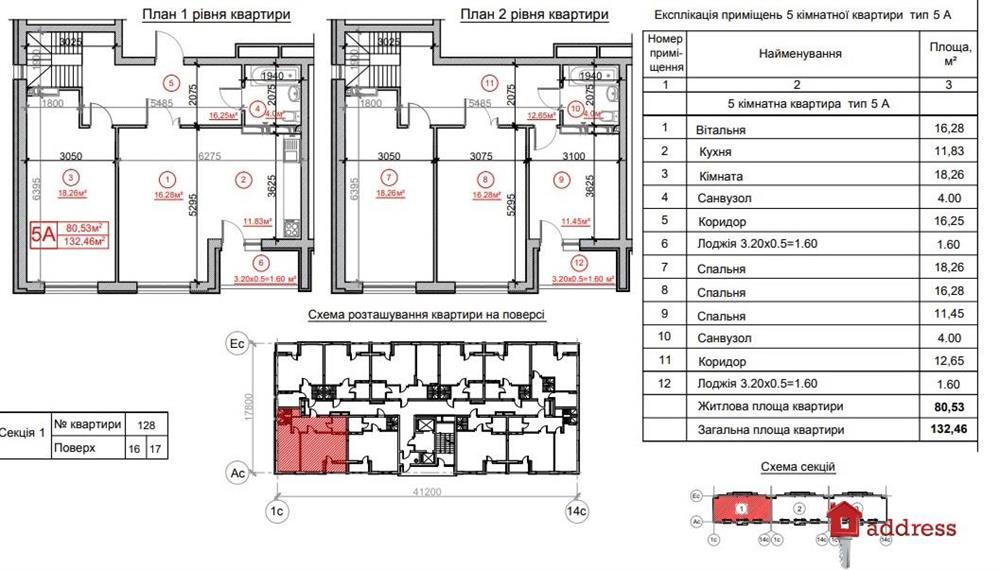 Жилой комплекс Рідне місто: 5 комнат