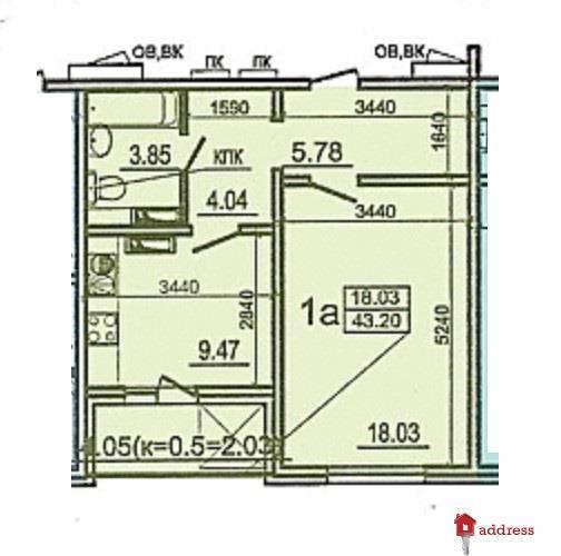 ЖК Моторный 11, дома 1,2,3: 1 комнатная