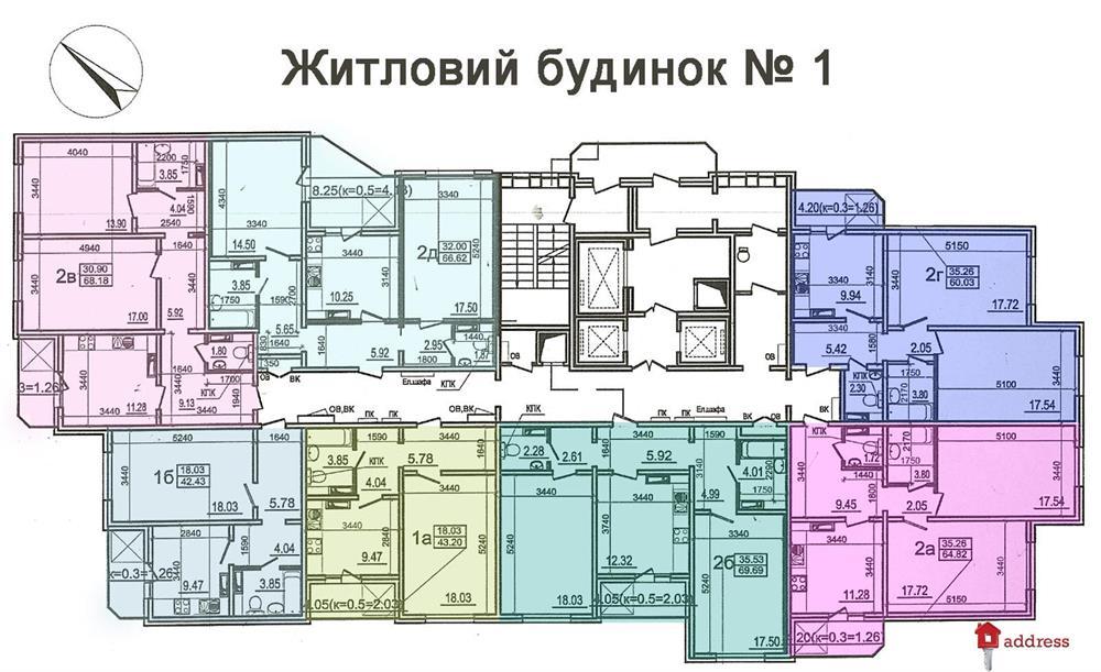 ЖК Моторный 11, дома 1,2,3: Типовые этажи