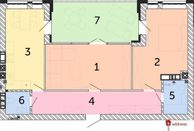 ЖК Найкращий квартал: 2-комнатные