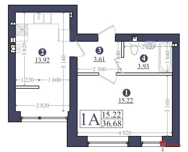 ЖК «Эмоция»:  Планирование 1-комнатных квартир