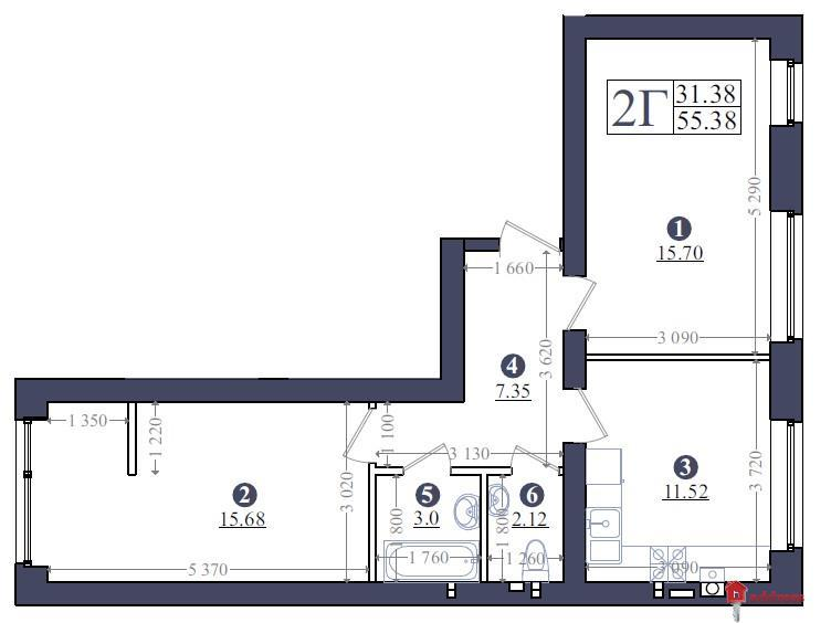 ЖК «Эмоция»:  Планирование 2-комнатных квартир