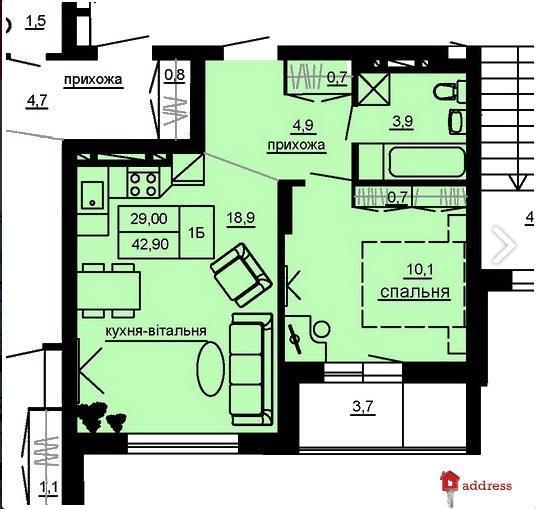 ЖК Beverly Hills: 1-комнатные