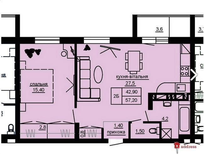 ЖК Beverly Hills: 2-комнатные