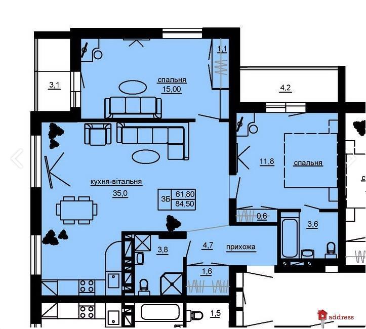 ЖК Beverly Hills: 3-комнатные