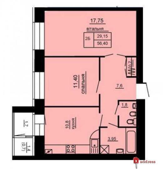 ЖК Парковый комплекс: 2-комнатные