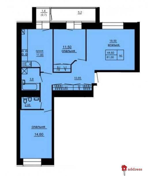 ЖК Парковый комплекс: 3-комнатные
