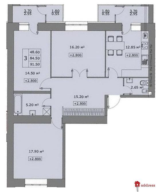 ЖК Говард: 3-комнатные