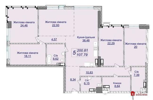 Жилой квартал Новопечерские Липки: Пятикомнатные