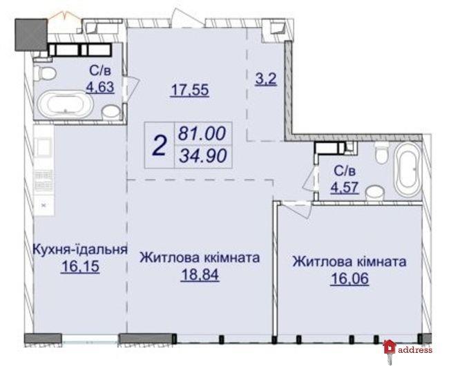 Жилой квартал Новопечерские Липки: Двухкомнатные