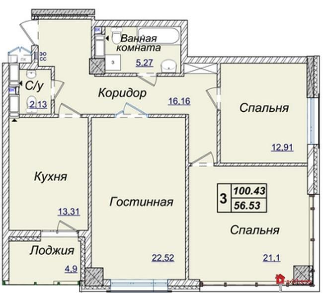 Жилой квартал Новопечерские Липки: Трехкомнатные