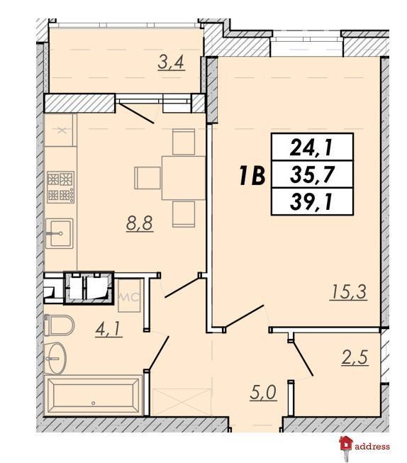 ЖК Прохоровский квартал: 1 комнатные