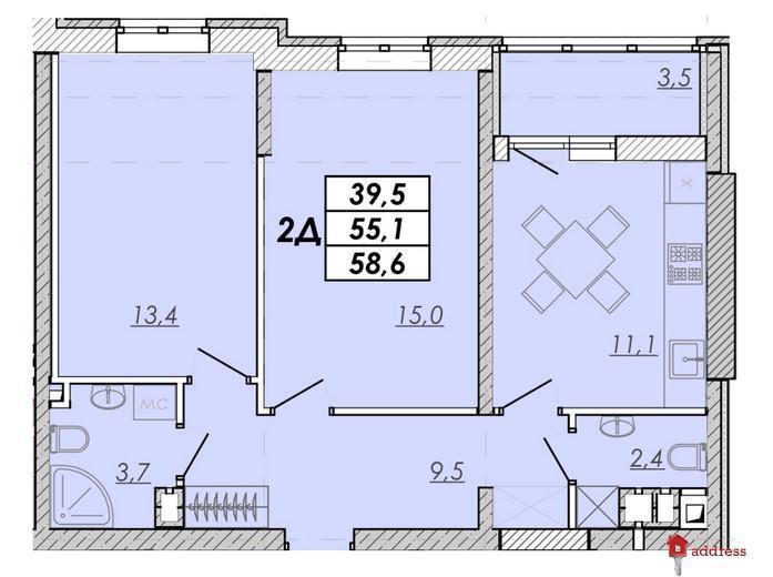 ЖК Прохоровский квартал: 2 комнатные